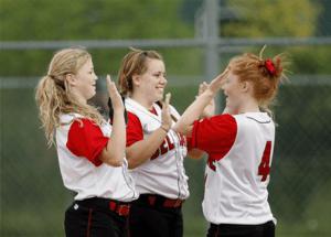 Girls wearing custom sport wear