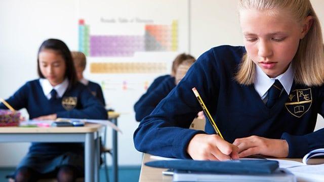 kids wearing Custom School Uniforms