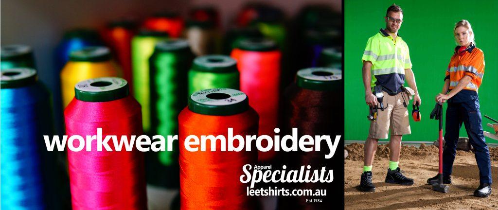 work wear embroidery_ lee tshirts